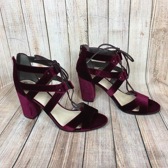 e92e15e1b42b Circus by Sam Edelman Emilia velvet heels in wine